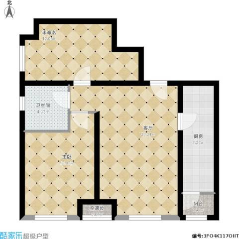 瞰海品筑1室1厅1卫1厨89.00㎡户型图