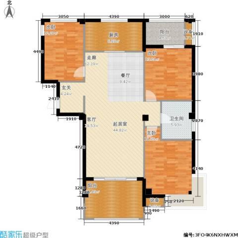 京华观邸3室0厅1卫1厨131.00㎡户型图