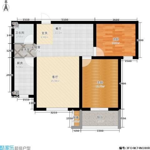 盛世春天2室0厅1卫1厨95.00㎡户型图