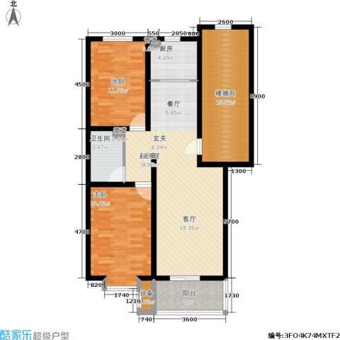 盛世春天2室0厅1卫1厨126.00㎡户型图