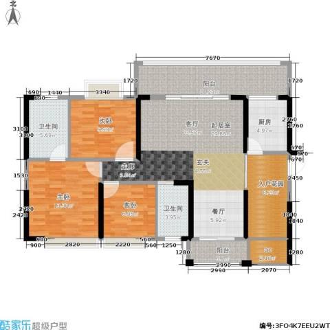 德洲城3室0厅2卫1厨113.00㎡户型图