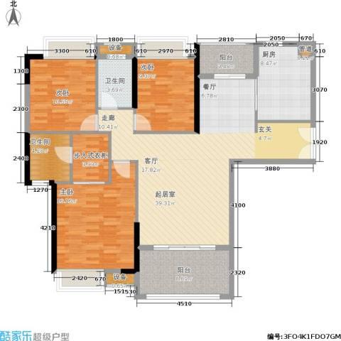 中盛圣地亚哥3室0厅2卫1厨136.00㎡户型图