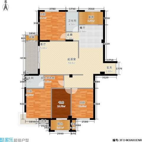 京华观邸4室0厅2卫1厨163.00㎡户型图