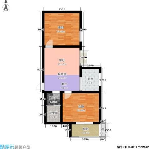 世纪锦城2室0厅1卫1厨82.00㎡户型图