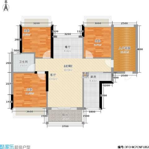 金宝城市佳园3室0厅1卫1厨95.77㎡户型图