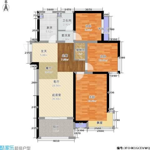 美的城3室0厅1卫1厨108.00㎡户型图