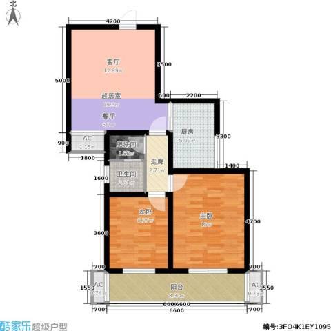 世纪锦城2室0厅1卫1厨89.00㎡户型图