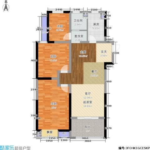 美的城3室0厅1卫1厨103.00㎡户型图