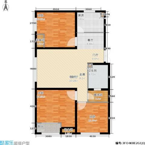 新业美居3室1厅1卫1厨162.00㎡户型图