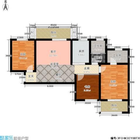 世纪锦城3室0厅2卫1厨117.00㎡户型图