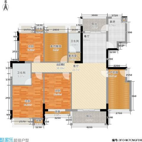 金宝城市佳园3室0厅2卫1厨137.97㎡户型图
