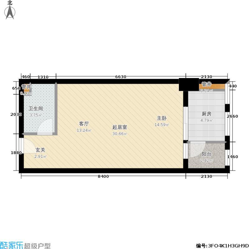 海亮明珠47.75㎡公寓A户型