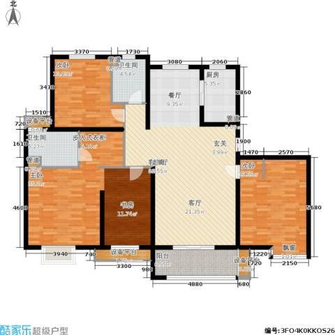农房万盛金邸3室1厅2卫1厨158.00㎡户型图