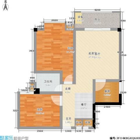 泰和新城2室0厅1卫1厨99.00㎡户型图