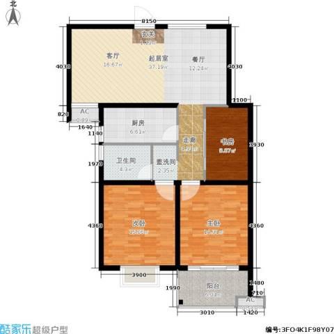 众兴华庭3室0厅1卫1厨105.00㎡户型图