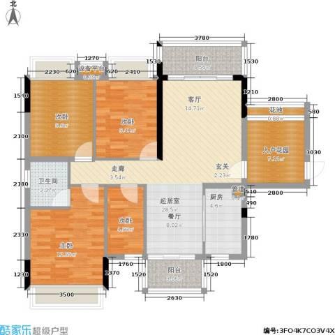 金宝城市佳园4室0厅1卫1厨103.10㎡户型图