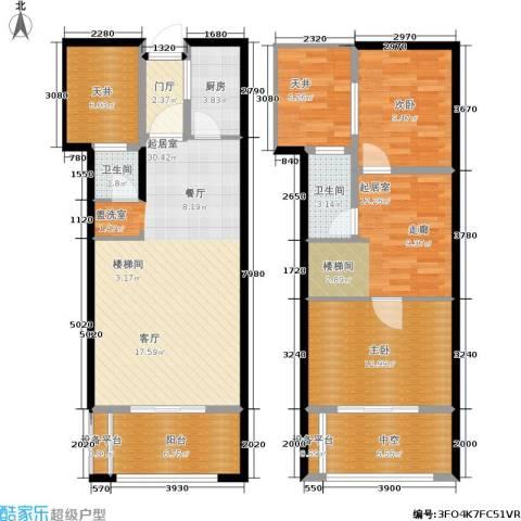 骏明国际2室0厅2卫1厨148.00㎡户型图