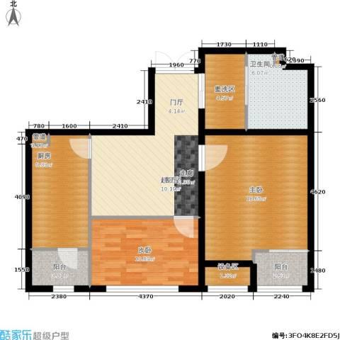 新业美居2室0厅1卫1厨106.00㎡户型图