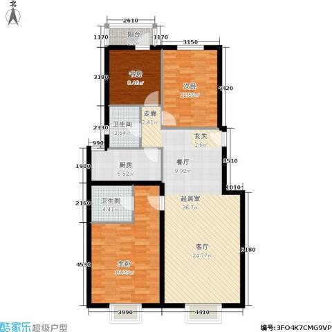 温莎公馆3室0厅2卫1厨134.00㎡户型图