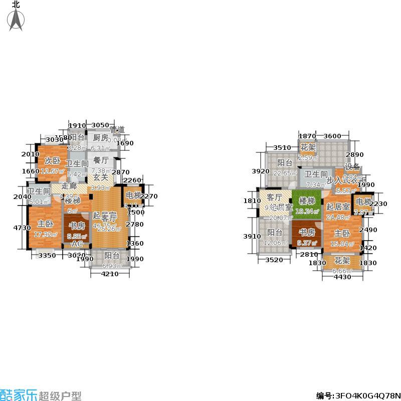 香滨湾花园218.00㎡金海香滨湾户面积21800m户型