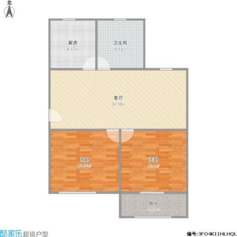 平吉二村2室1厅1卫1厨111.00㎡户型图