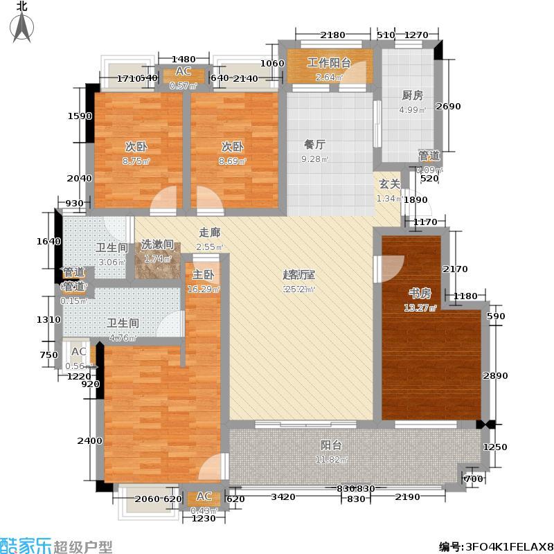 绿地国际博览城138.00㎡二期小高层B户型