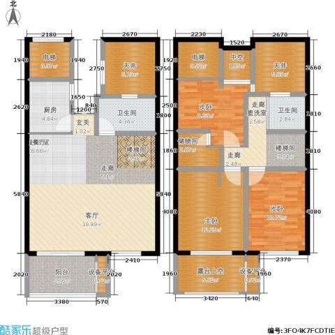 骏明国际3室0厅2卫1厨178.00㎡户型图