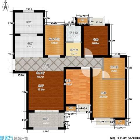 中南世纪城3室1厅2卫1厨125.00㎡户型图