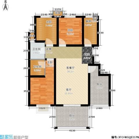 宽景一品3室1厅2卫1厨130.00㎡户型图