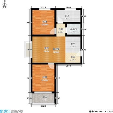 融和家园2室0厅1卫1厨70.78㎡户型图