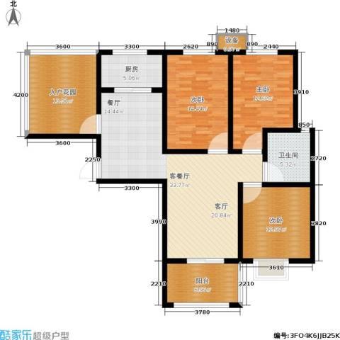 宽景一品3室1厅1卫1厨150.00㎡户型图