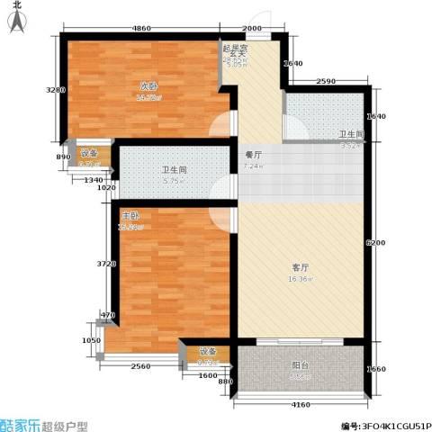 盛世春天2室0厅2卫0厨108.00㎡户型图