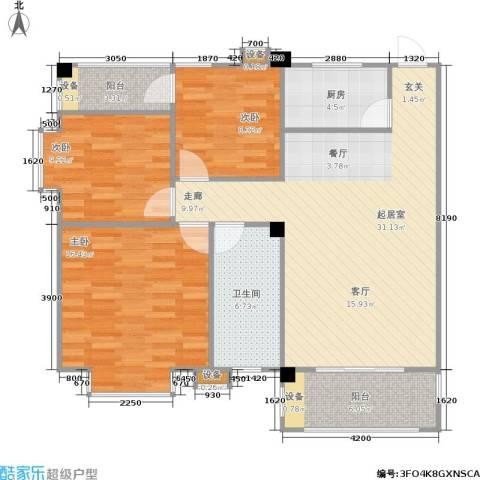 泰和新城3室0厅1卫1厨117.00㎡户型图