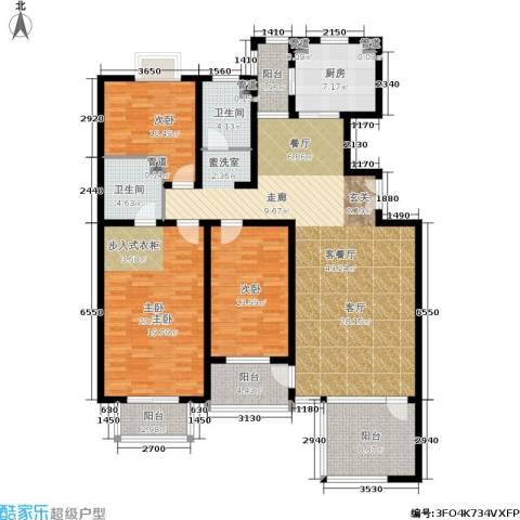 豪绅嘉苑3室1厅2卫1厨190.00㎡户型图