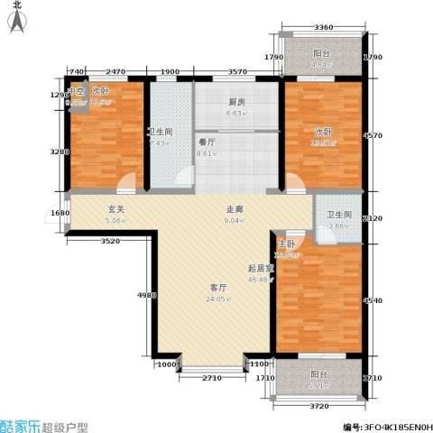 金沃向阳城3室0厅2卫1厨130.00㎡户型图