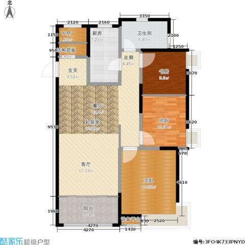 风尚米兰3室0厅1卫1厨144.00㎡户型图