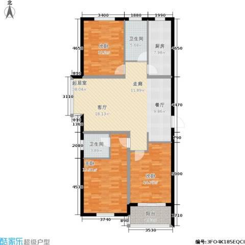 金沃向阳城3室0厅2卫1厨120.00㎡户型图