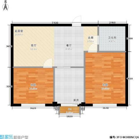 泰锋俪景城二期2室0厅1卫1厨69.00㎡户型图