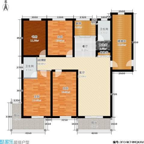 盛世春天4室0厅2卫1厨207.00㎡户型图