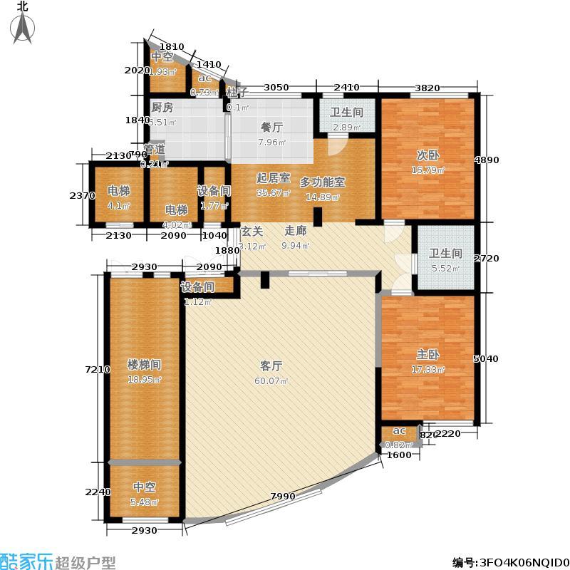 知稼苑285.00㎡房型复式户型