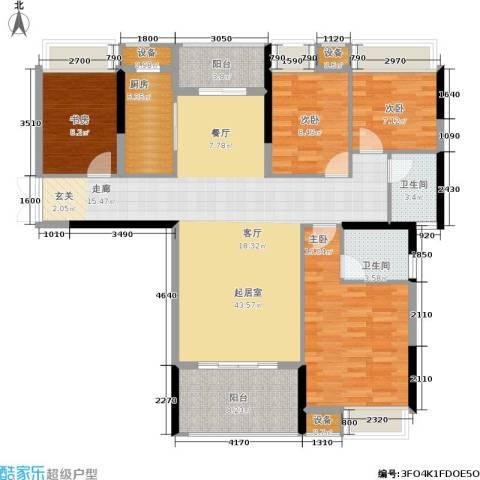 中盛圣地亚哥4室0厅2卫1厨135.00㎡户型图
