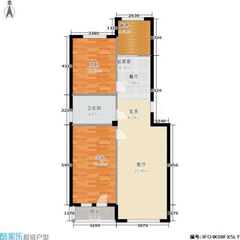 泰锋俪景城二期2室0厅1卫1厨85.62㎡户型图