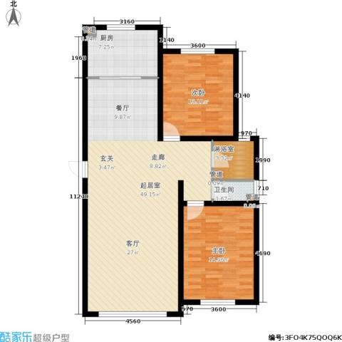 融誉国际广场2室0厅1卫1厨125.00㎡户型图