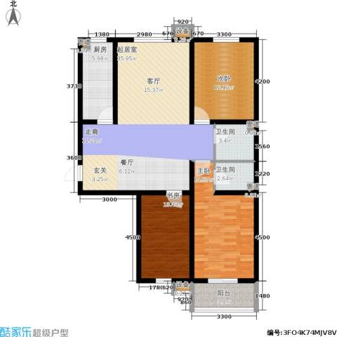 盛世春天3室0厅2卫1厨129.00㎡户型图