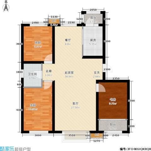 新城御景3室0厅1卫1厨117.00㎡户型图