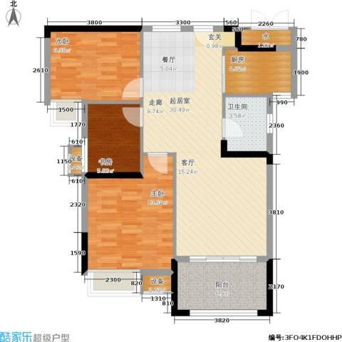 中盛圣地亚哥3室0厅1卫1厨95.00㎡户型图