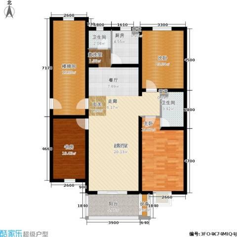 盛世春天3室0厅2卫1厨157.00㎡户型图