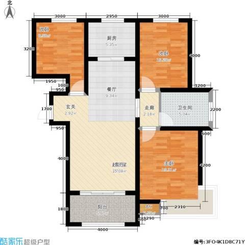 名士豪庭3室0厅1卫1厨123.00㎡户型图