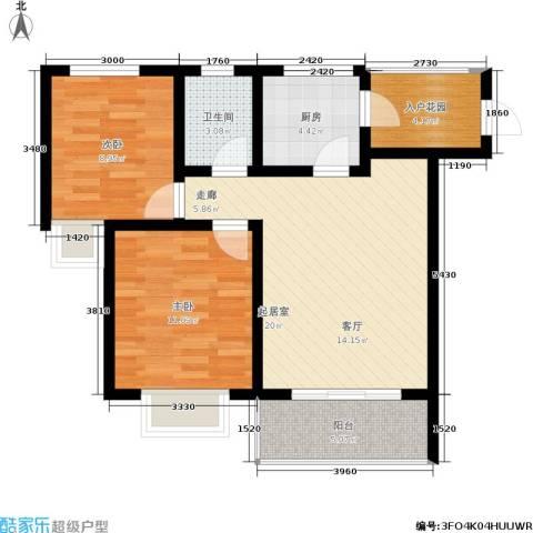 五指山·山水名城2室0厅1卫1厨72.00㎡户型图