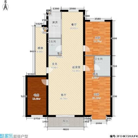 绿城叠翠园3室0厅2卫1厨181.00㎡户型图
